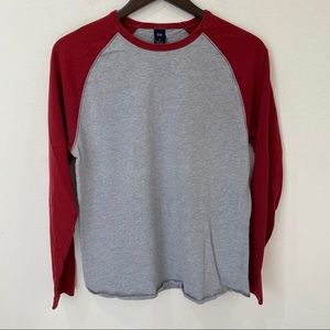 (3/$25) GAP | Color Block Long Sleeve Baseball Tee